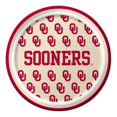 Ncaa Tailgate Party Pack (Pack of 96 NCAA Oklahoma Sooners Round Tailgate Party Paper Plates 7