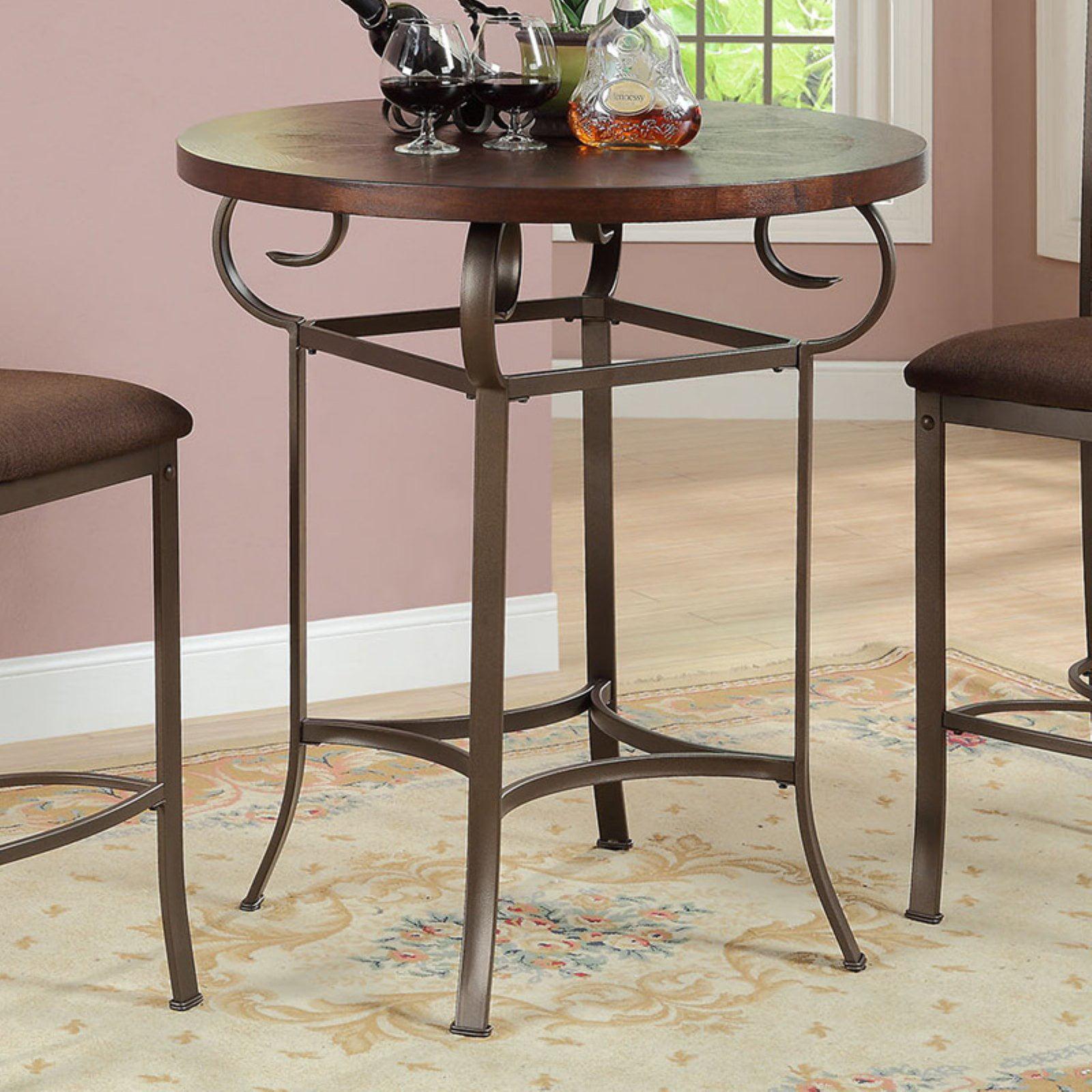 Acme Furniture Tavio Bar Height Pub Table Dark Bronze by Acme