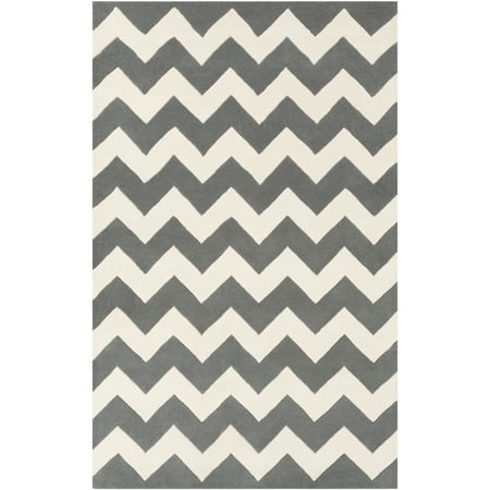 Artistic Weavers Transit Penelope 5' x 8' Rectangular Area Rug (Teal And White Chevron Rug)