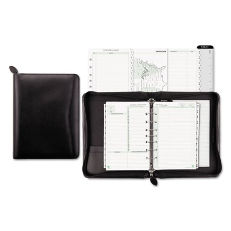 Recycled Bonded Leather Starter Set, 5 1/2 x 8 1/2, Black Cover Recycled Starter Set