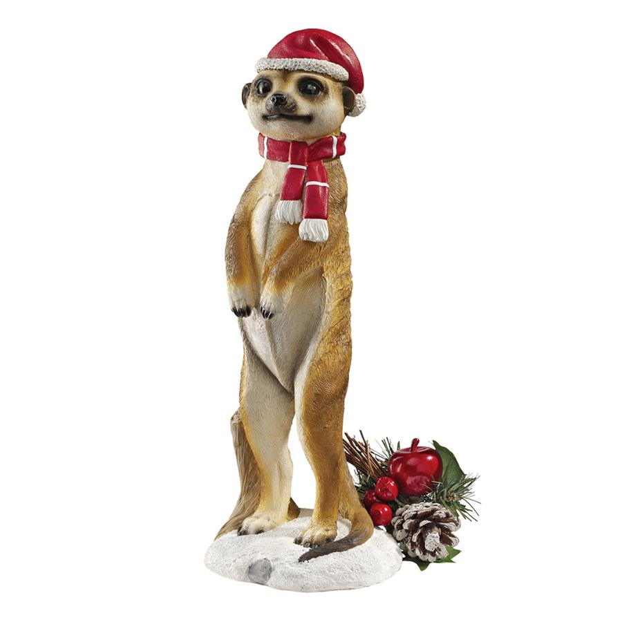 Design Toscano Merry Meerkat Holiday Greeter Statue: Set of Two