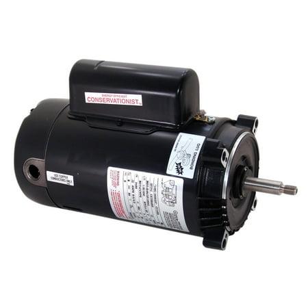 Smith Threaded Shaft Motor (Regal Beloit 3,450 RPM 2.5 HP Thread Shaft Motor for Hot Tubs, Black |)