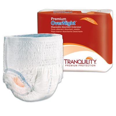 Tranquility Premium Overnight Underwear, 2X-LARGE, XXL, Heavy Absorbency, 2118 - Case of 48