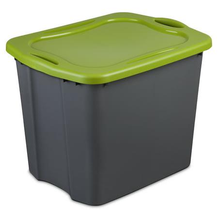 Sterilite 23.8 Gallon Flat Gray & Spicy Lime EZ Carry Tote, 2 Piece