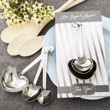 """50 """"Love beyond measure"""" collection - Set of Stainless heart shaped measuring spoons"""