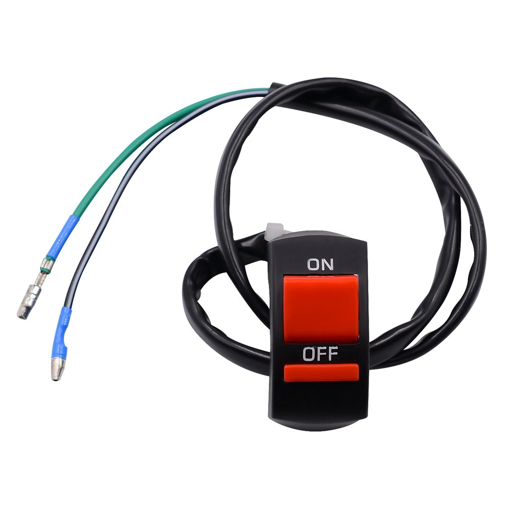 Universal Handlebar Motorcycle Accident Hazard Light Switch On Off And Button Qty