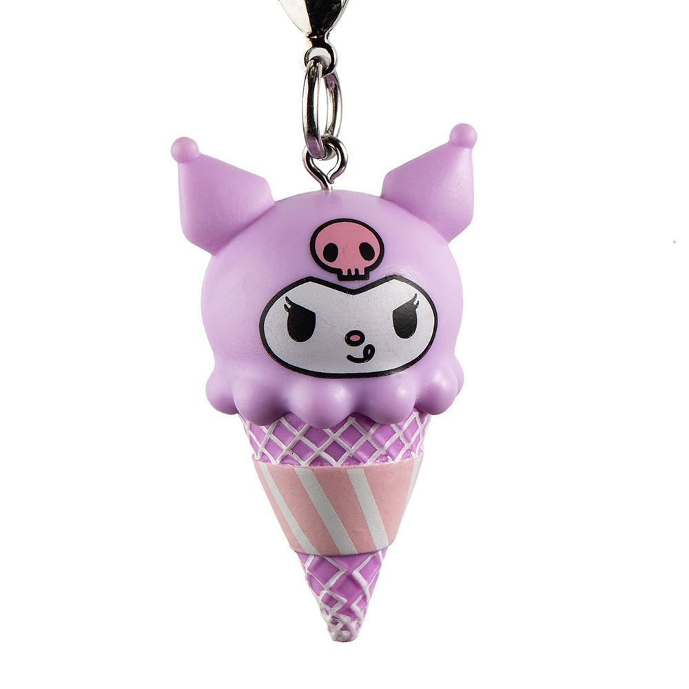 Kuromi black key chain ring pendant birthday keychain strap new