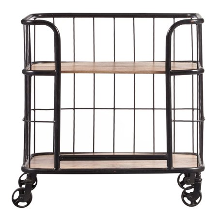 Pulaski Accentrics Home Industrial Bar Cart in Black and