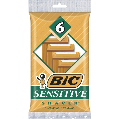 5 Pack - Bic Sensitive Shaver, 6 Shavers per Package