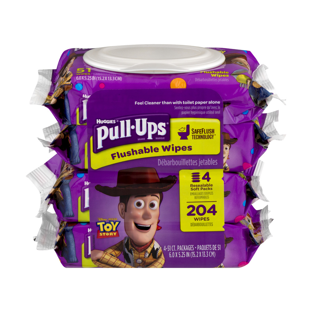Huggies Pull-Ups Flushable Wipes - 204 CT