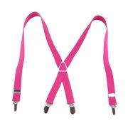 "TopTie Kids Suspenders Boy Elastic Adjustable 3/4"" Inch X-Back Suspenders-ROSERED"