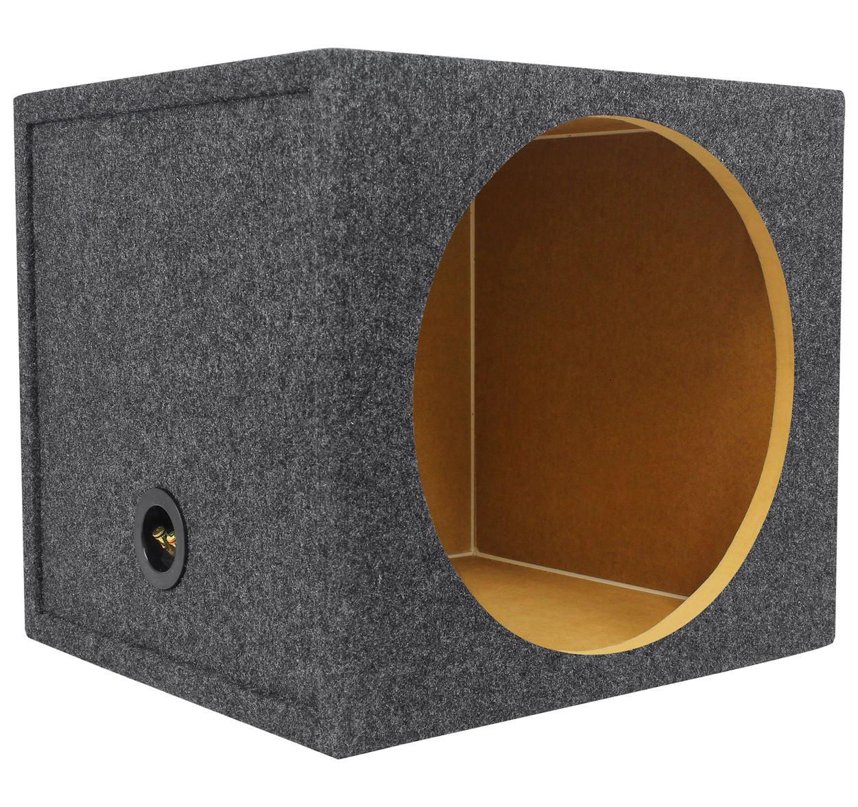 "Rockville RGS15 Single 15"" Sealed Car Sub Enclosure Box 2.03 Cu Ft, 3/4"" MDF"