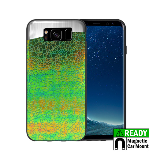 MUNDAZE Green Holographic Magnetic Ready Case For Samsung Galaxy S8 Phone