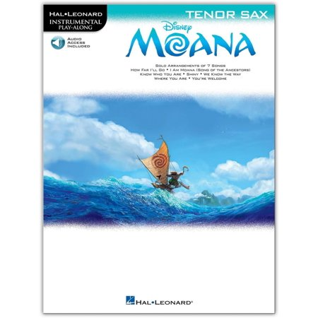 Hal Leonard Moana For Tenor Sax   Instrumental Play Along Book Audio Online