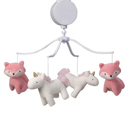 Baseball Musical Crib Mobile (Bedtime Originals Rainbow Unicorn and Fox White/Coral Musical Baby Crib Mobile )