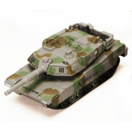 Super Tank Team M1 Abrams, Green and Gray Camouflage - Showcasts 8882/3D - 6.5 Inch Scale Diecast Model Replica (Brand New, but NOT IN BOX)
