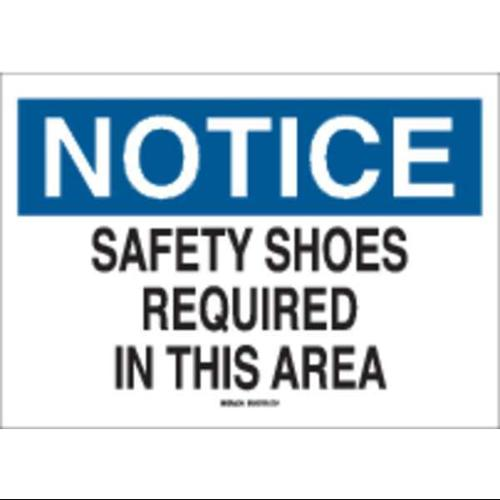 BRADY 88652 Notice Sign, 10 x 14In, BL and BK/WHT, ENG