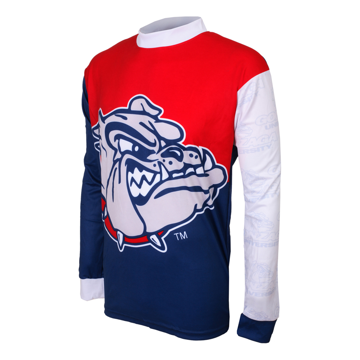 Adrenaline Promotions Gonzaga University Bulldog Long Sleeve Mountain Bike Jersey