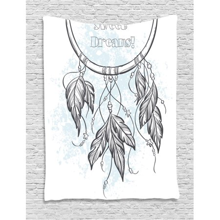 Sweet Dreams Tapestry Doodle Hand Drawn Dream Catcher Ethnic Aztec