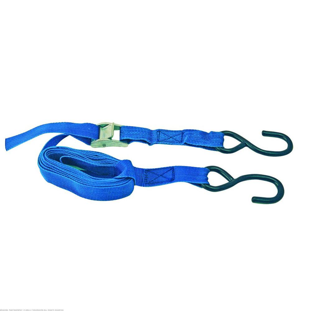 """1"""" x 10' Cam Buckle Strap Tie Down 300 lb Red"""