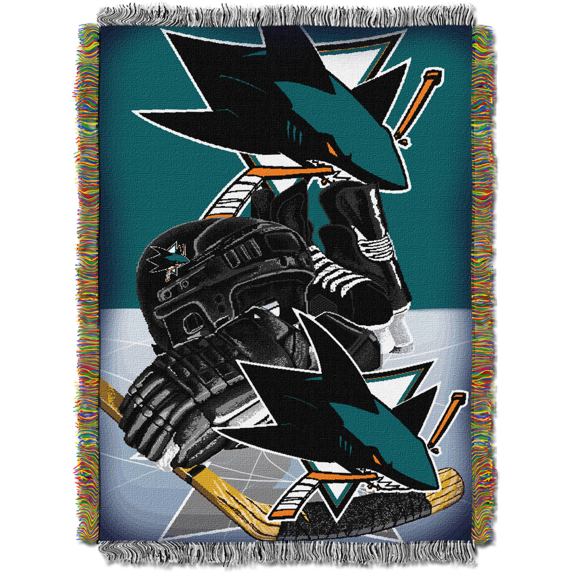 "NHL 48"" x 60"" Home Ice Advantage Series Tapestry Throw, Sharks"