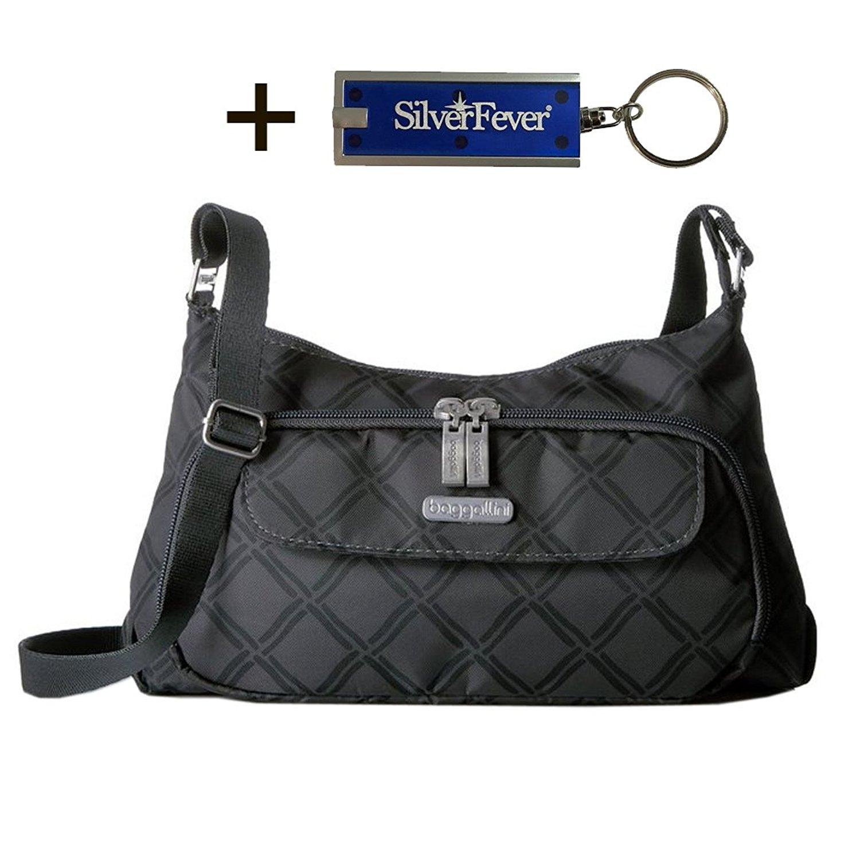 Baggallini Handbag Crinkle Shoulder Purse w Key Chain (Ch...