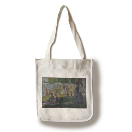 A Sunday Afternoon - Masterpiece Classic - Artist: Georges-Pierre Seurat  c. 1884 (100% Cotton Tote Bag - Reusable)