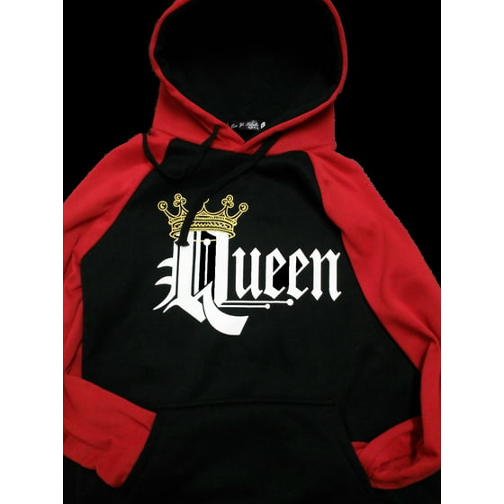 afe75c87 DYMADE - DYMADE Couple Matching King Queen Crown Two Tone Raglan ...