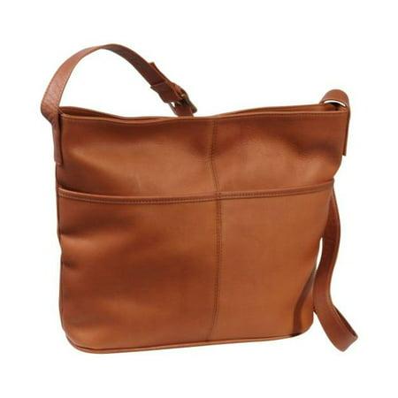 Vacquetta Leather Two Slip Pocket Hobo ()