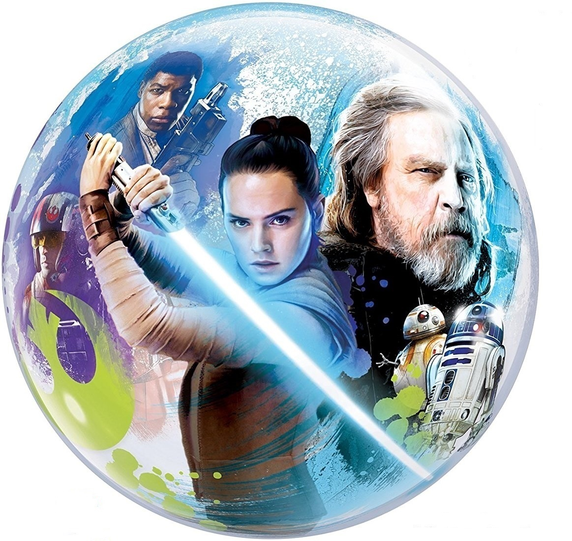 "Star Wars The Last Jedi 22"" Stretchy Plastic Balloon Disney Bubbles Decoration"