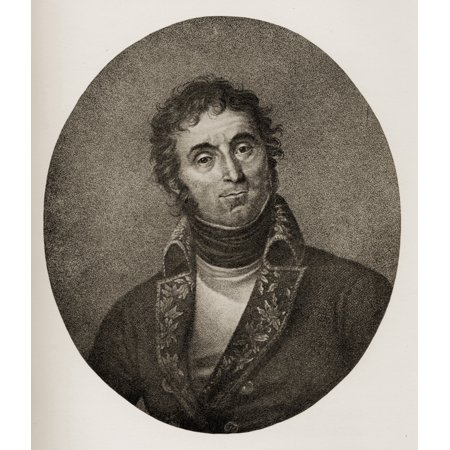Andr Massena Prince De Essling Duc De Raguse 1758-1817 French Marshal From An Engraving After The Painting By Bonne - Maison Stretched Canvas - Ken Welsh  Design Pics (14 x