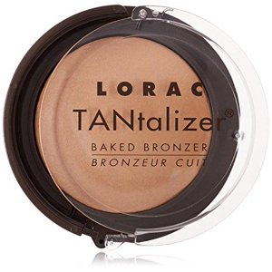 lorac tantalizer baked bronzer, matte tan