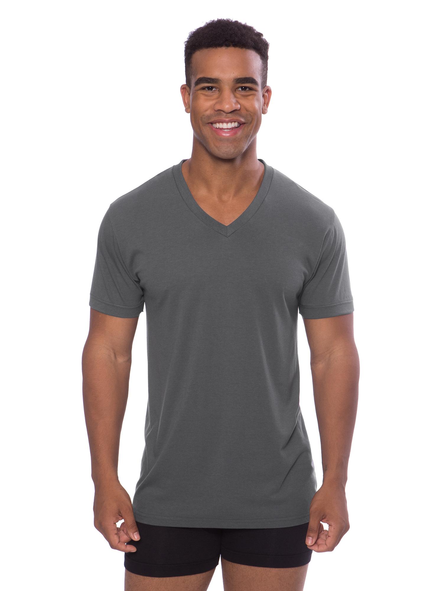 Best Lounge Wear for Him Meio, Black, ST Texere Mens V-Neck Luxury Undershirt