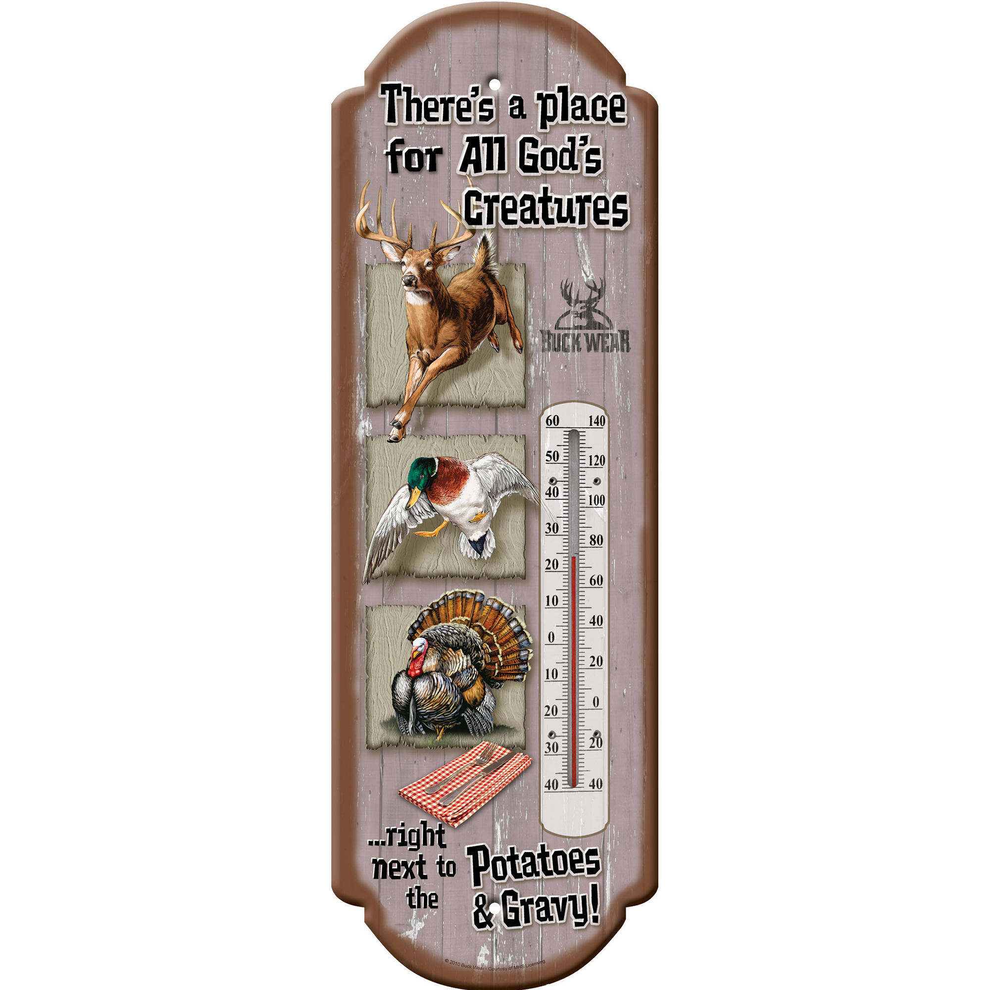 River's Edge God's Creatures Tin Therm