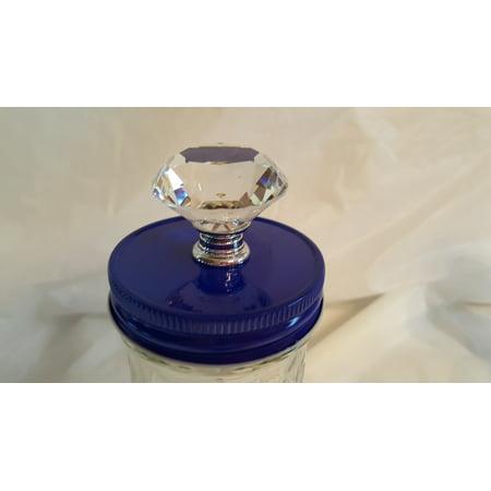 1 Blue Mason Jar Canister Knob Converter Top Lid