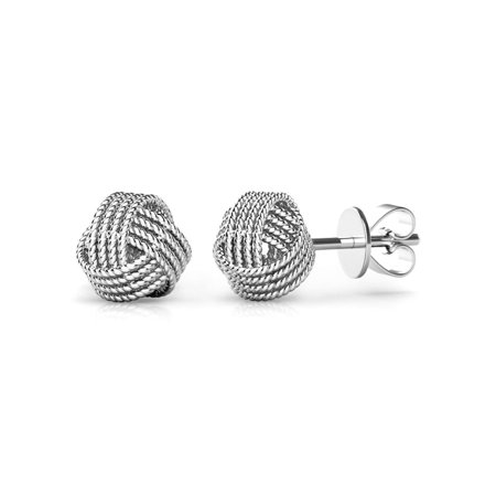 Sterling Silver Twisted Love Knot Stud