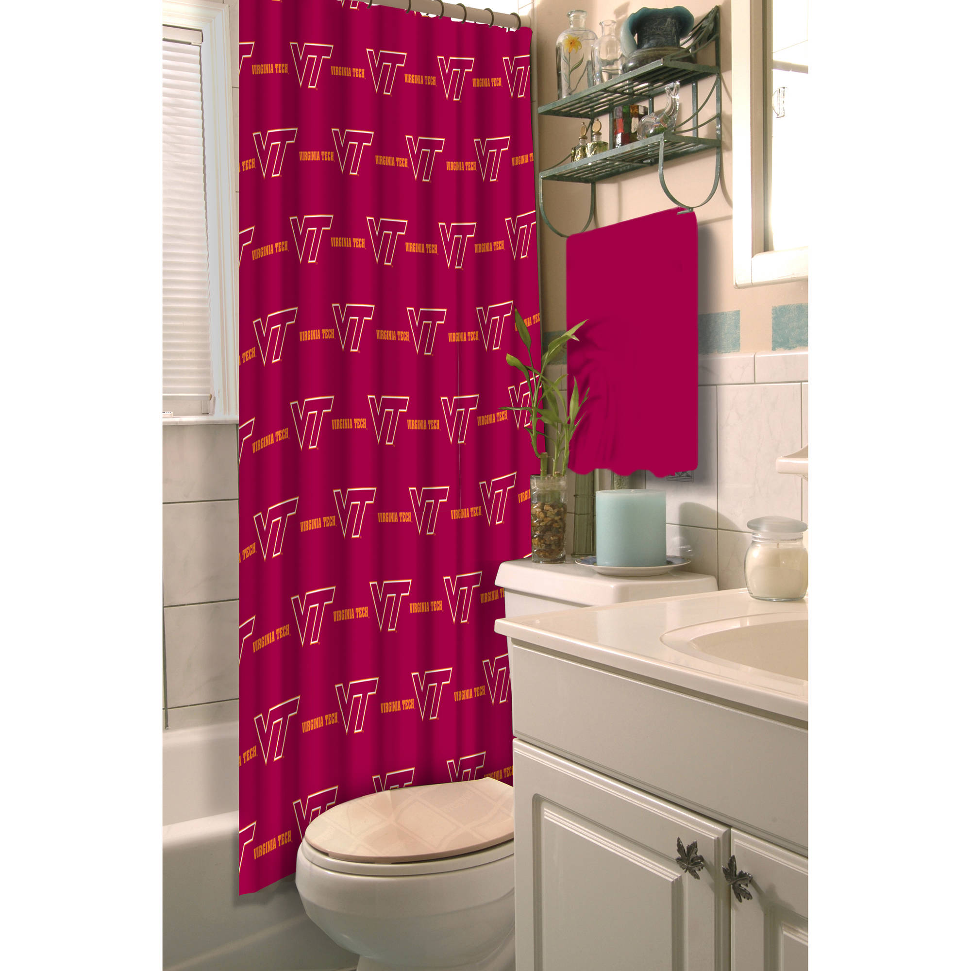 Ncaa Virginia Tech Shower Curtain 1 Each Walmart Com