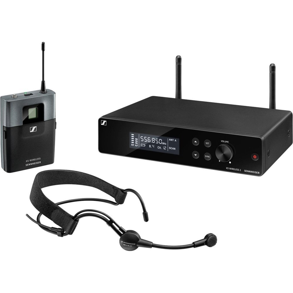 Sennheiser XSW 2-ME3-A Wireless 2 Headset Microphone System (A: 548 to 572 MHz) 507129 by Sennheiser