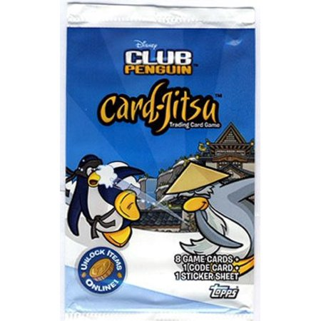 2009 Topps Disney Card Game Blister Pack ~ 1 Pack, club penguin By Club (Club Penguin Accessory Pack)
