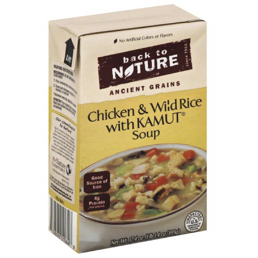 Back to Nature Ancient Grains Chicken and Wild Rice with Kamut Soup, 17.4 oz, (Pack of 6)