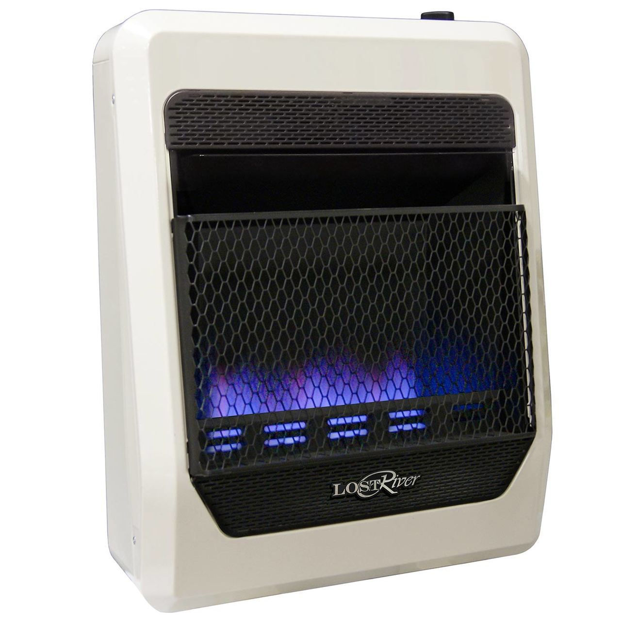 Lost River Natural Gas Ventless Blue Flame Gas Space Heater - 20,000 BTU, Model# LRT20B-NG
