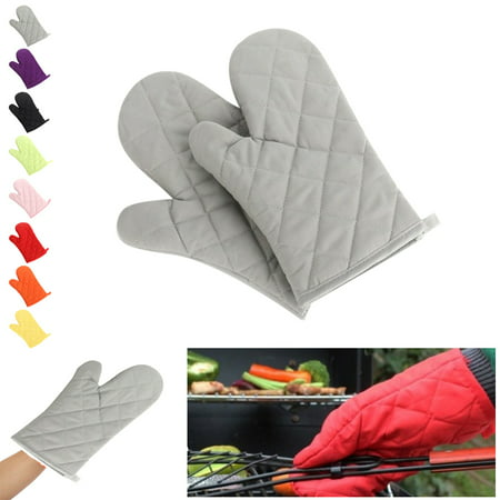 2 Pcs Oven Gloves,Baking Gloves,Microwave Gloves,Cooking Oven Mitts Heat - Cotton Oven Glove