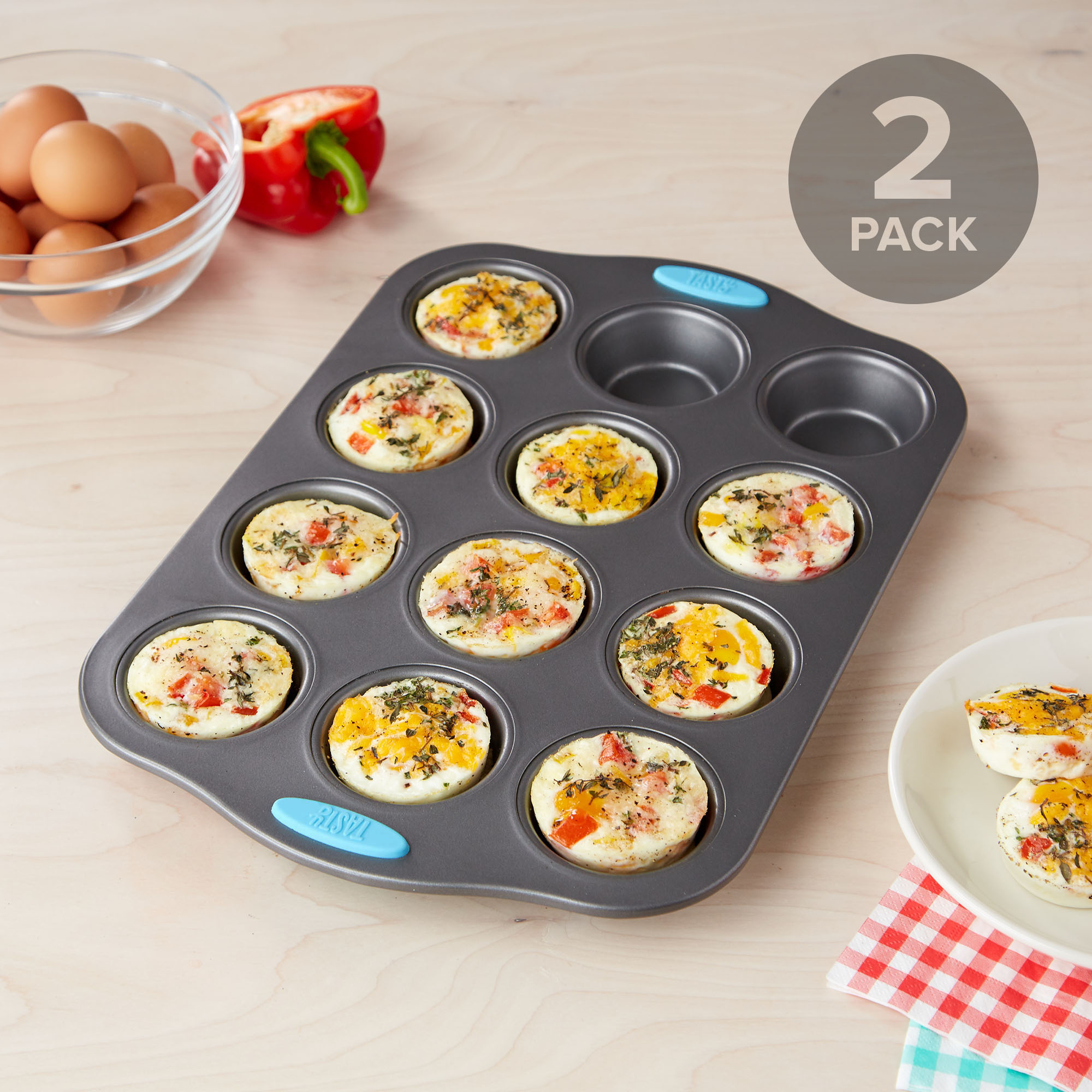 Tasty 12 Cup Muffin Pan - Set of 2