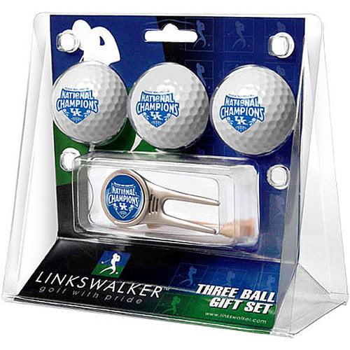 NCAA - Kentucky Wildcats 2012 NCAA National Basketball Champions 3 Ball Gift Pack and Cap Tool