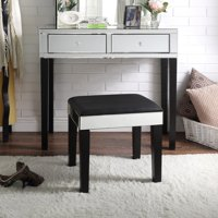 Inspired Home London Mirrored Bedroom Vanity with Stool and Optional Mirror