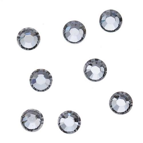 SWAROVSKI ELEMENTS Hotfix Crystal Flatback Rhinestones SS12 Silver Night (50)
