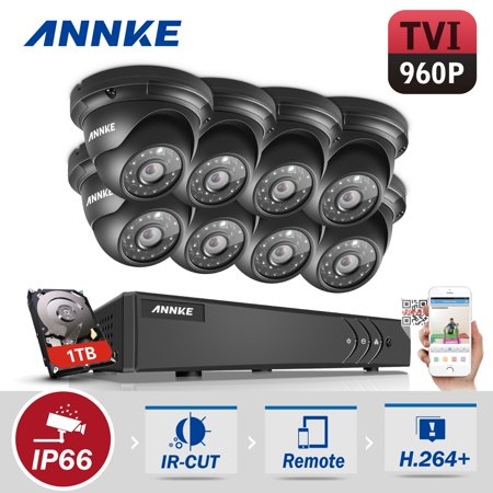 ANNKE HD 1080P 8CH CCTV System Video Recorder DVR 8PCS 960P 1.3MP Surveillance Camera IR CCTV kits for Home Security with 1TB Hard Drive