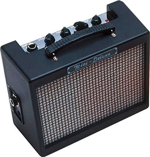 Fender Mini Deluxe Electric Guitar Amp, Enjoy pure portability from a petite sized amp... by