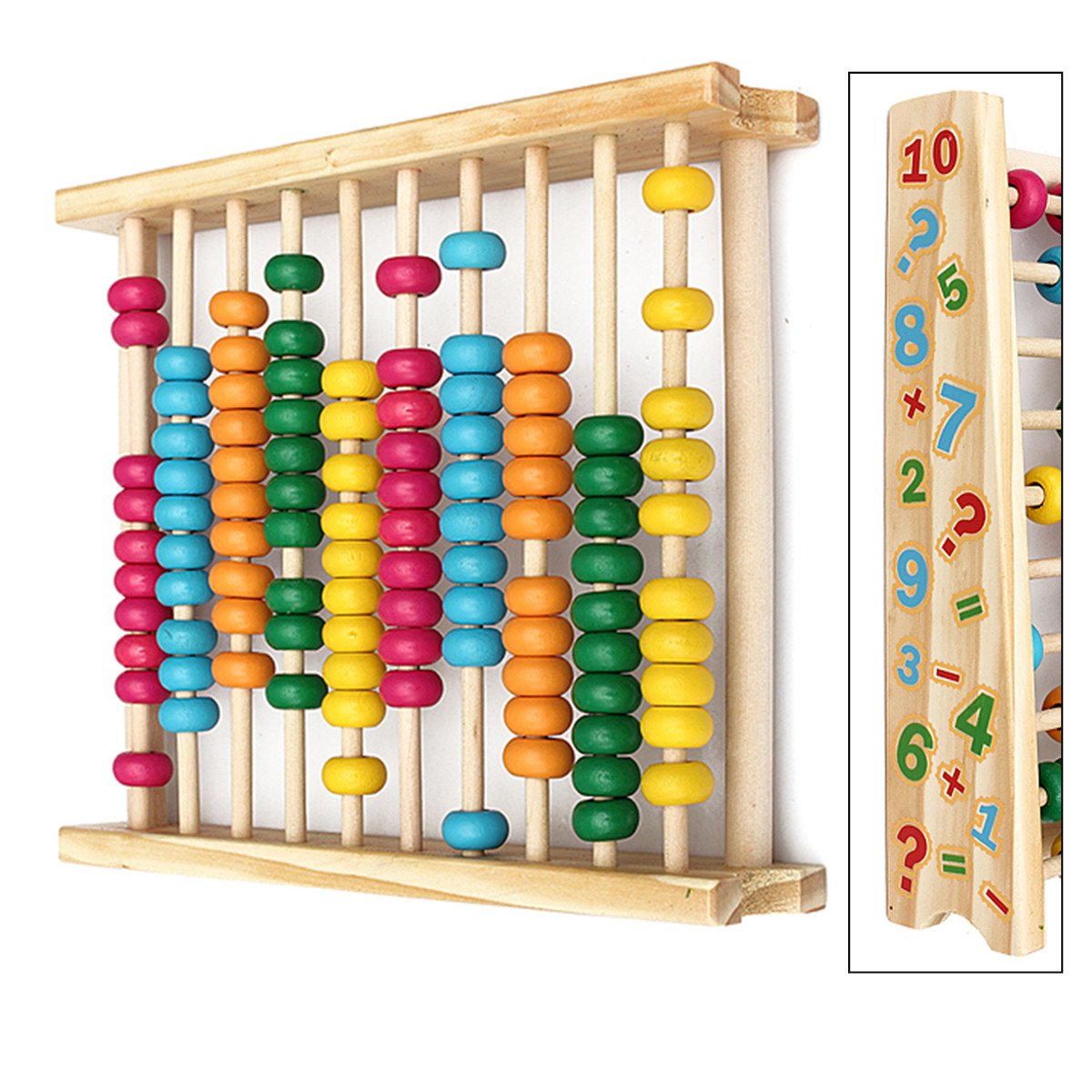 Grtsunsea Wooden Abacus-Classic and Colorful Children Math and Counting Sticks Toy with Free-Standing Frame and 100 Beads-Learning and Educational Toy