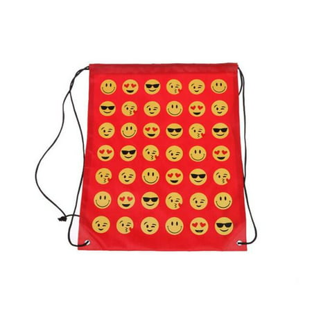 Emoji EMOJI-STRING-RED Drawstring Backpack,